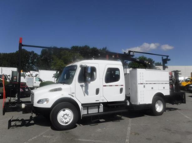 2006 Freightliner M2 106 Medium Duty Diesel Crew Cab, Crane Truck Air Brakes