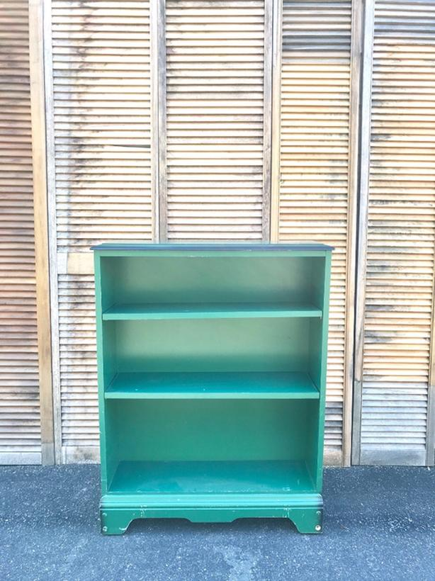Green Bookcase Vintage Bookshelf Farmhouse Bookshelf Esquimalt