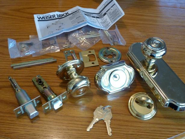 front door handle lock home entry set solid brass New