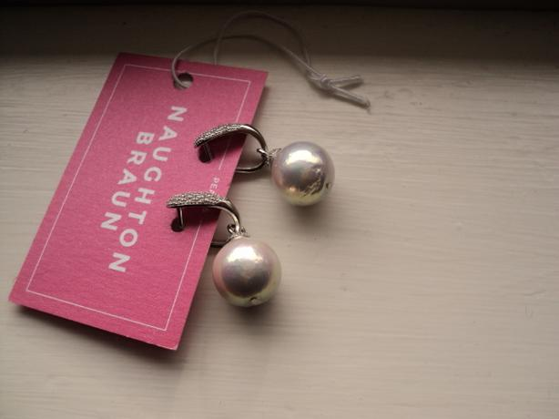 NEW - Sterling Silver & Freshwater Pearl Earrings - Bridal / Evening