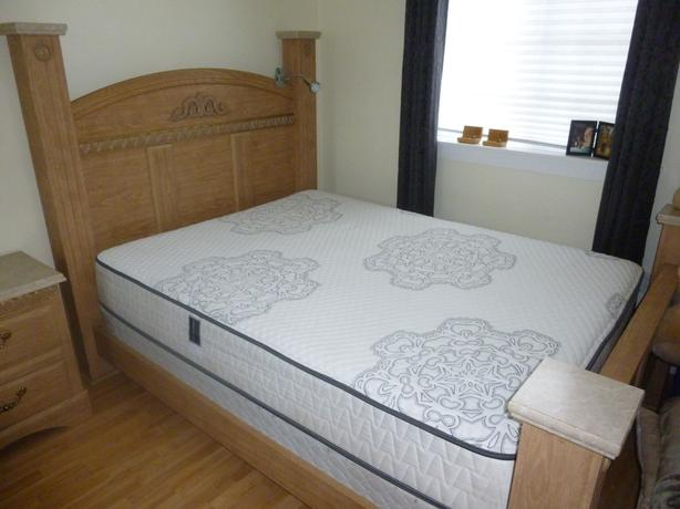 Queen Size Bed And Matching Bedside Table