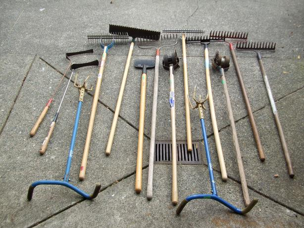 Gardening Tools Rakes Shovels Axes Picks Hoes ETC