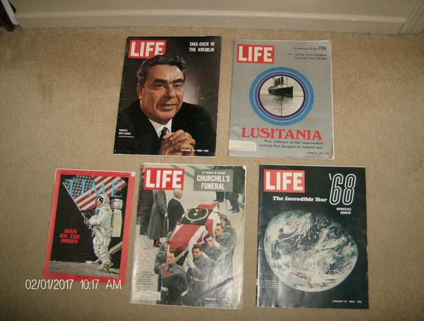 1960s TIME and LIFE magazines