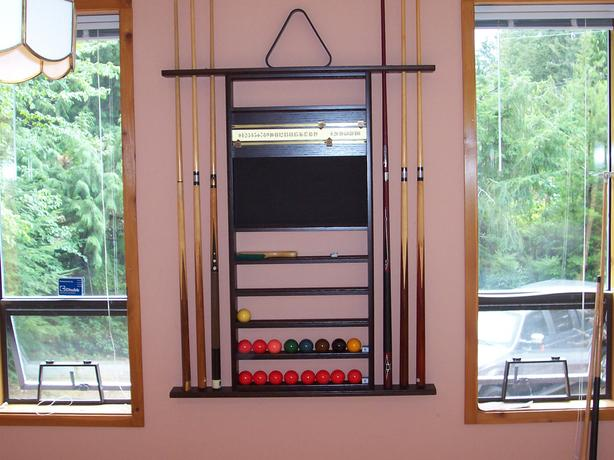 Billiards Accessory Rack