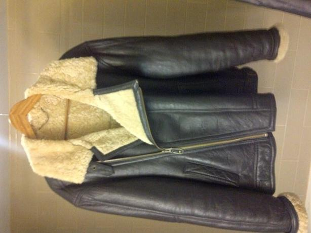 Blenheim, sheepskin. wool-lined aviator jacket, XL