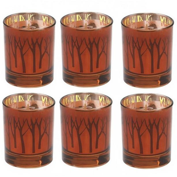 Scented Candle Jar Maple Butter Pumpkin Night Air Fall Woodsy Motif 6 Lot Choice