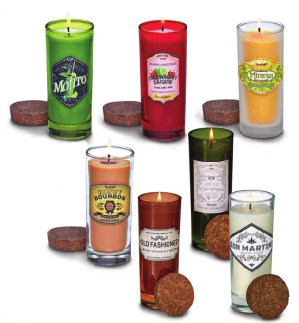 Whiskey Cocktail Liqueur Scented Jar Candle 15 Flavours 2 Styles 6 Lot