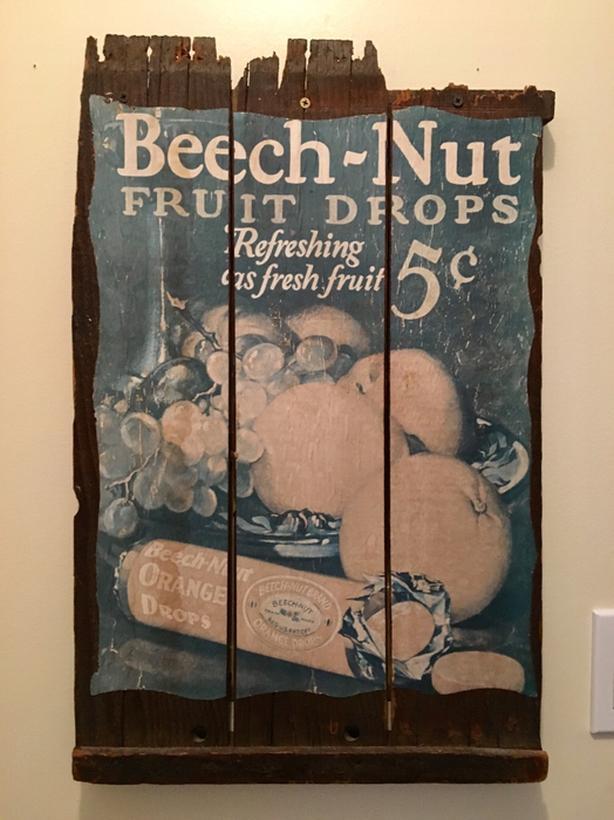antique Beech-nut sign