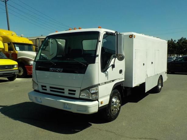 2006 Isuzu Npr Lcf 14 Foot Service Truck Turbo Diesel