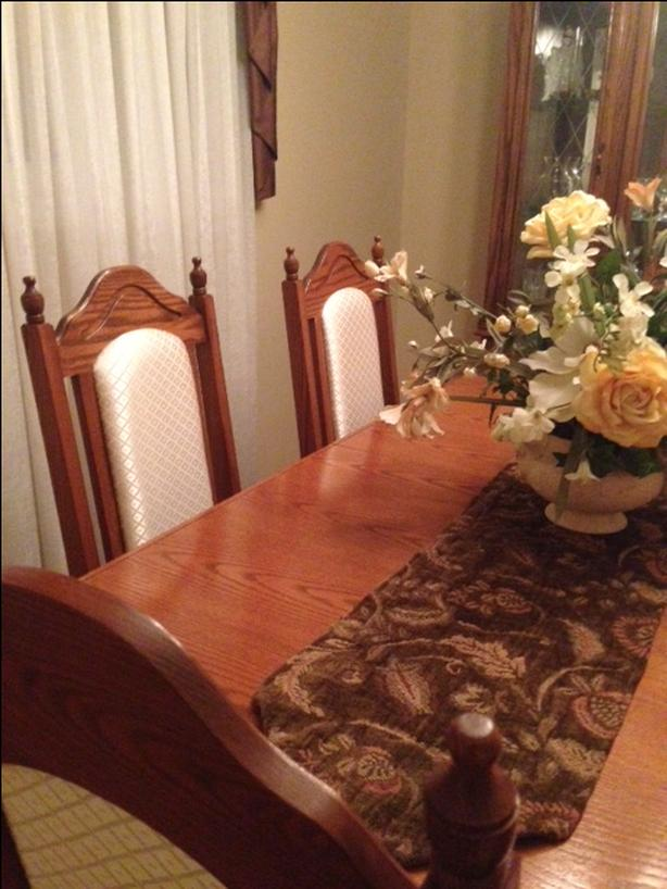 beautiful six chairs dining set with hutch wooden