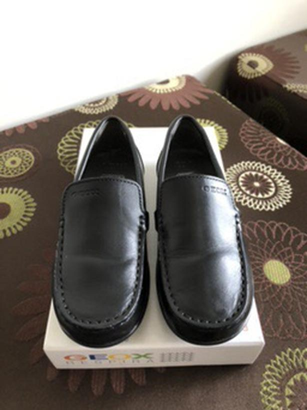GEOX KID'S JUNIOR SMOOTH LEATHER LOAFERS - Size 10