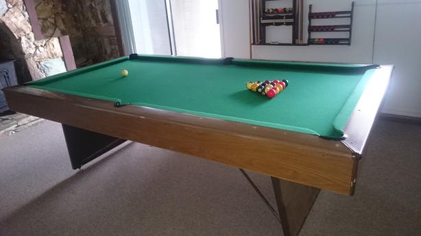 Full Size Pool Table and all cues, balls
