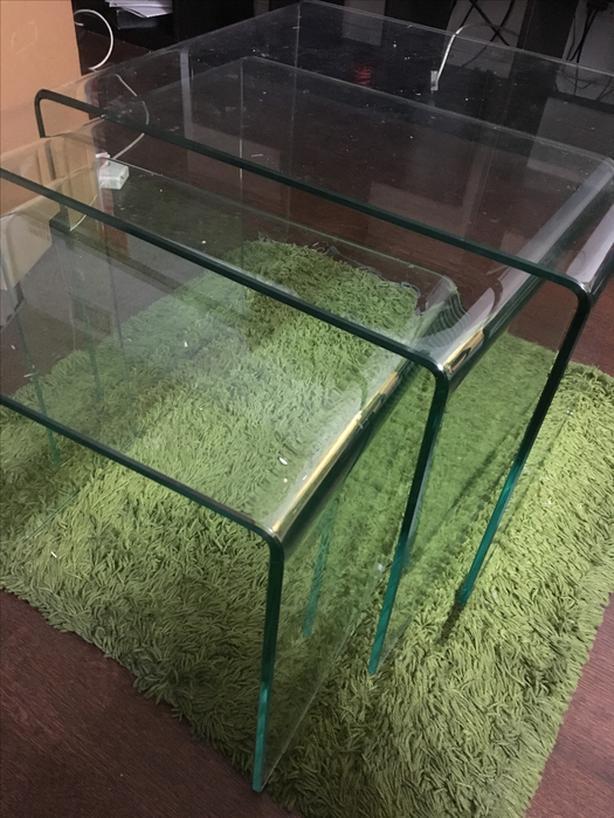 FREE: 3 piece glass coffee table
