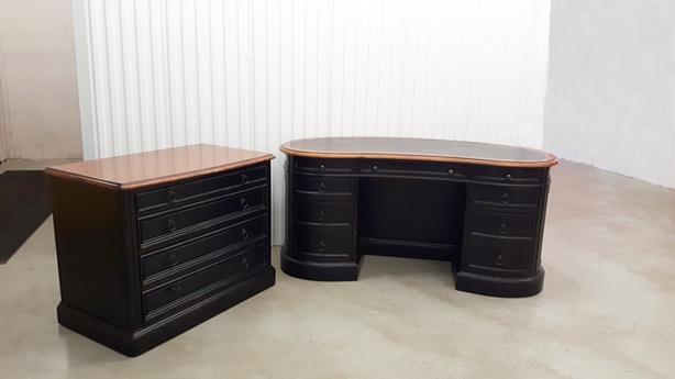 Sligh Desk and File Cabinet