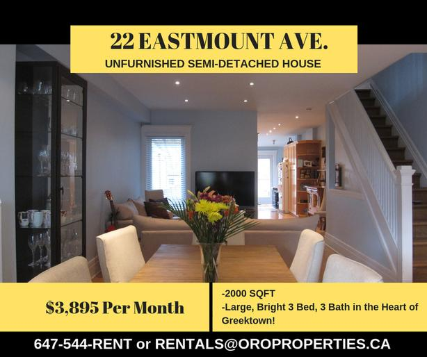 Large, Bright 3 Bed, 3 Bath in the Heart of Greektown!