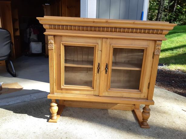 Solid Wooden Antique Hutch