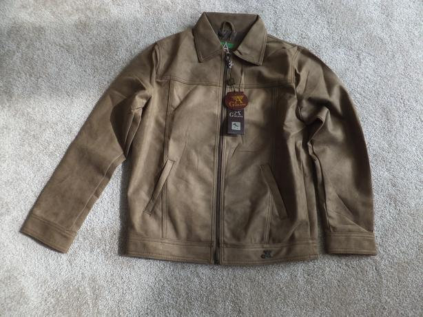 New Suede Jacket – G A Milano 1 Brown Suede Medium size with zipper-unisex
