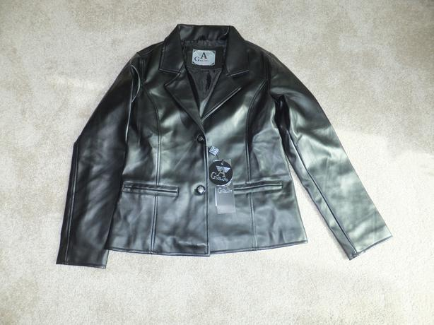 FOR SALE New Leather Jacket – G A Milano 1 Black Ladies Small size
