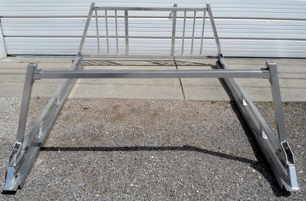 ALUMINUM WESTCAN HEADACHE / LADDER RACK WITH RAILS