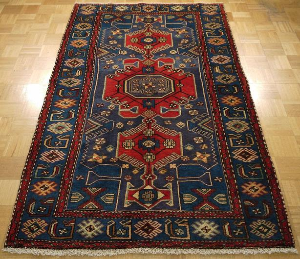 "Persian Hamadan Carpet 7'1"" x 4'4"""