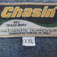 Men's Denim Jean Jacket with Leather Collar