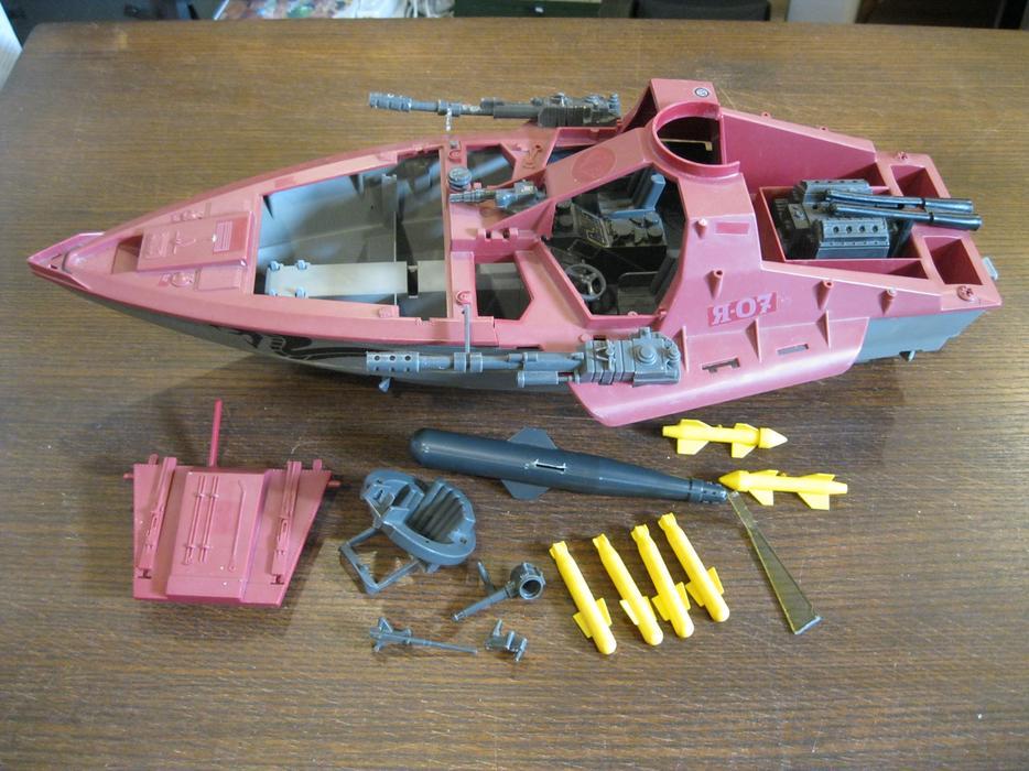 GI Joe Moray Hydrofoil HYDROFOIL STRUT Vtg part 1985 Cobra g.i