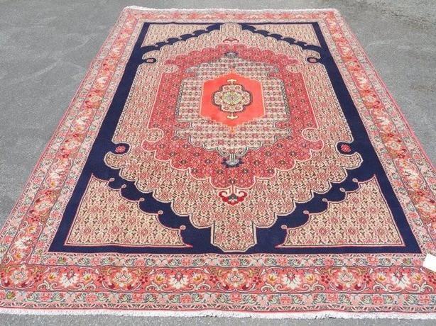 "Persian Senneh Area Rug 9'11""x6'8"""