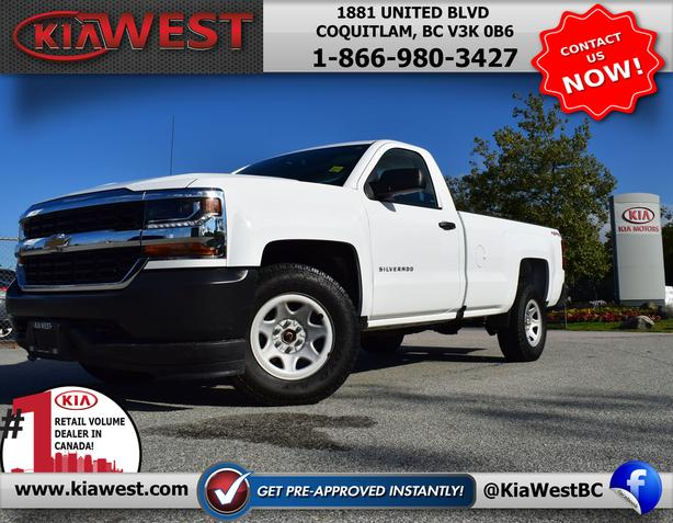 2017 Chevy Silverado 1500 Regular Cab 4x4 V6