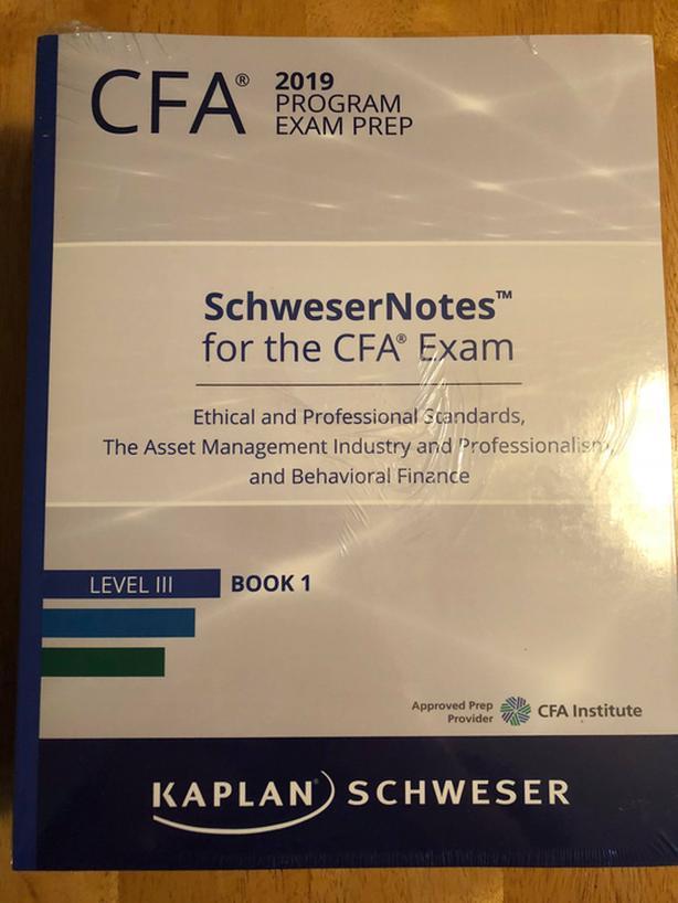 $700 · 2019 CFA Level 3 Kaplan Schweser Textbooks, Quick Sheet & Exams