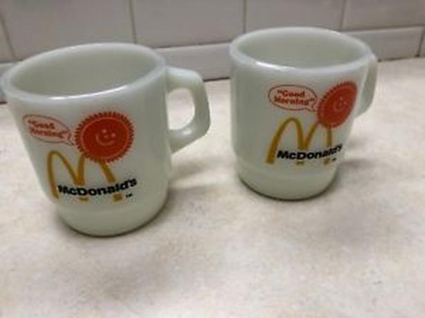 WANTED: Milk Glass Advertising Coffee Cups
