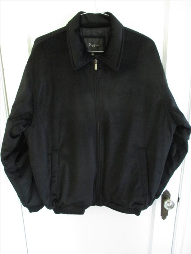 Sean John Brand Men's Black Velour Jacket