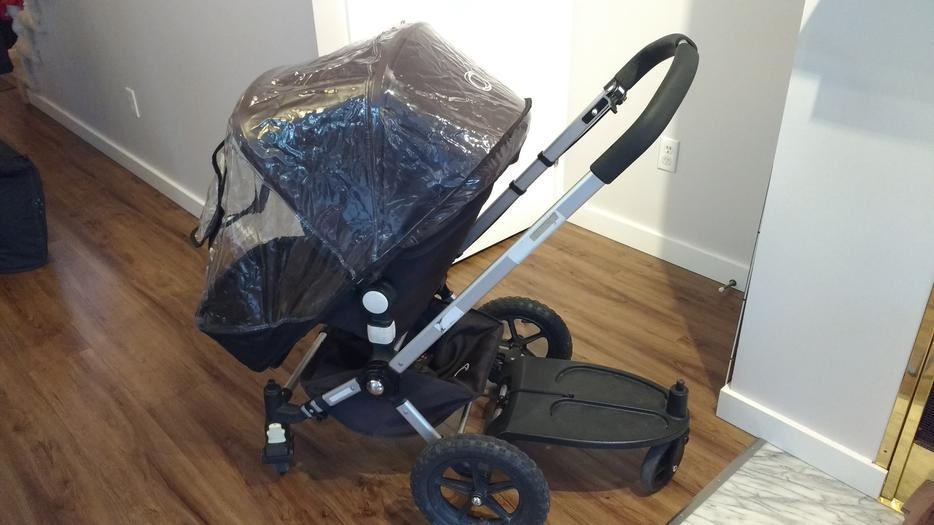 300 Bugaboo Frog Stroller With Skateboard Attachment For A Second Child
