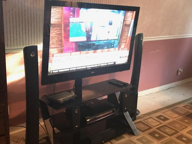 LG Plasma TV & Home Theater w/ stand - PRICED FOR QUICK SALE