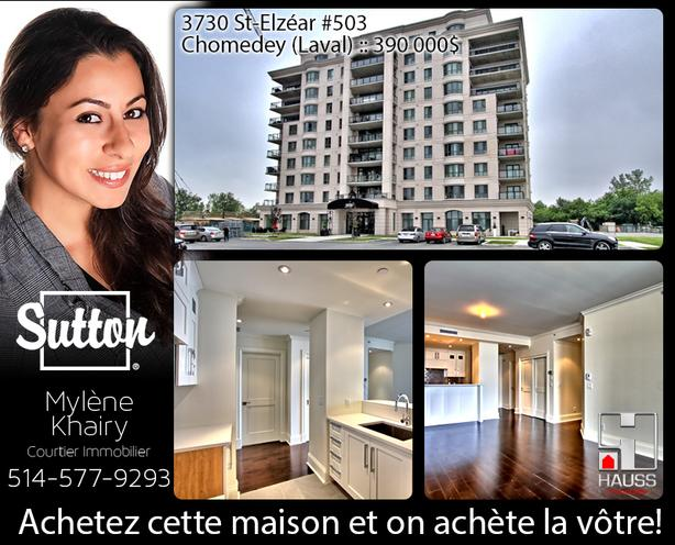 Majestic 2 bedrooms Condo - Chomedey (Laval)