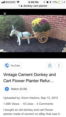 Wanted Cart Donkey Planter West Shore Langford Colwood Metchosin
