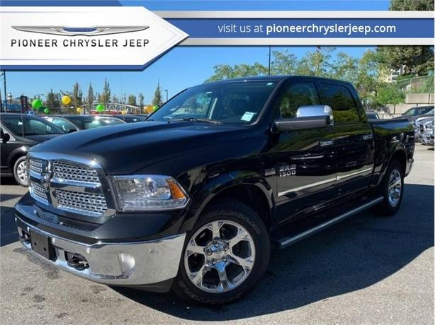 2017 Ram 1500 Laramie  -Leather Heat Cool Seats -Sunroof -Tonneau cover