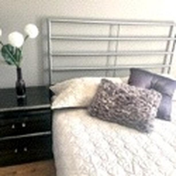 BED FRAME, MATTRESS & NIGHT TABLE