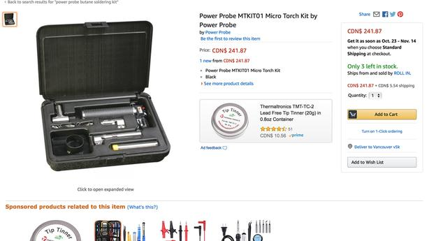 power probe micro torch soldering kit Saanich, Victoria
