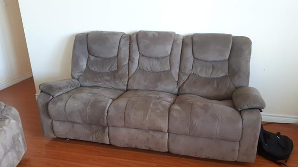 Grey Sofa Set (with recliners)