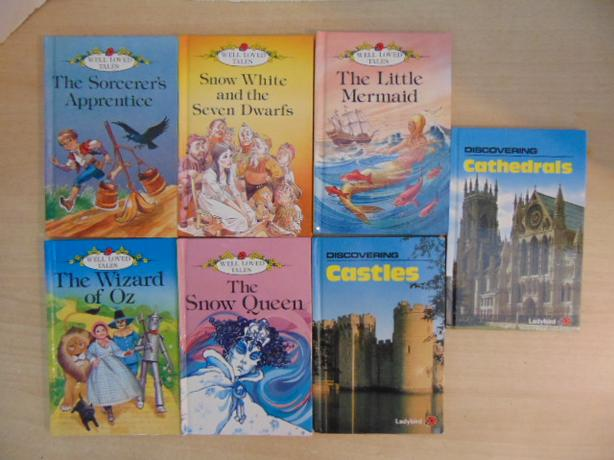 Vintage Children's Books Lady Bird 7 Hardcovered Books