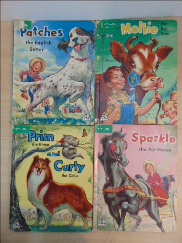 Vintage Children's Books Sandman  1957 Set 4 Large  Hardcovered