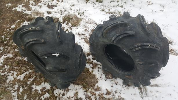 2-28x12.5-12 Outlaw Tires