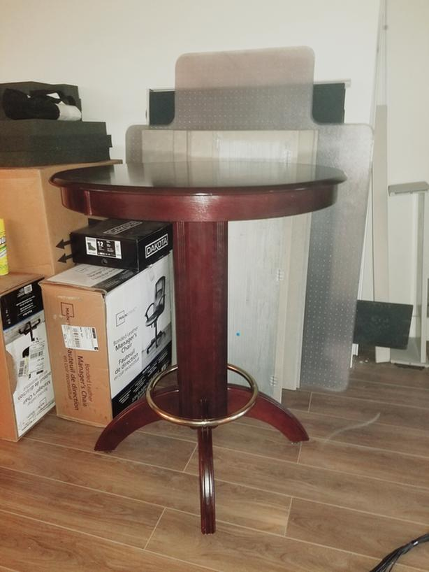 Wood bar table- the price is negotiable