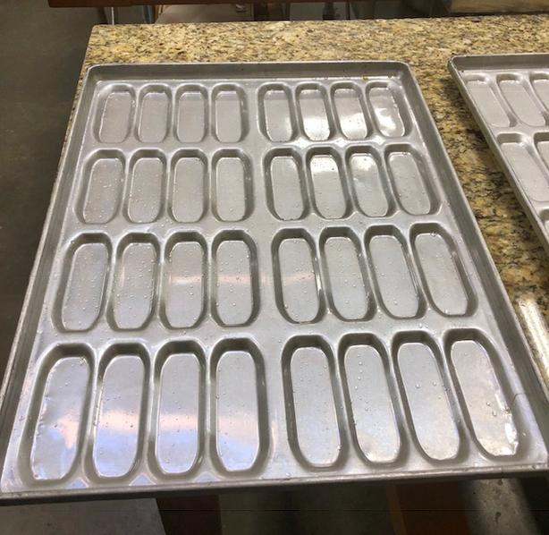 Specialty sheet pans for hot dog buns - bakers sheet pans - 2 available
