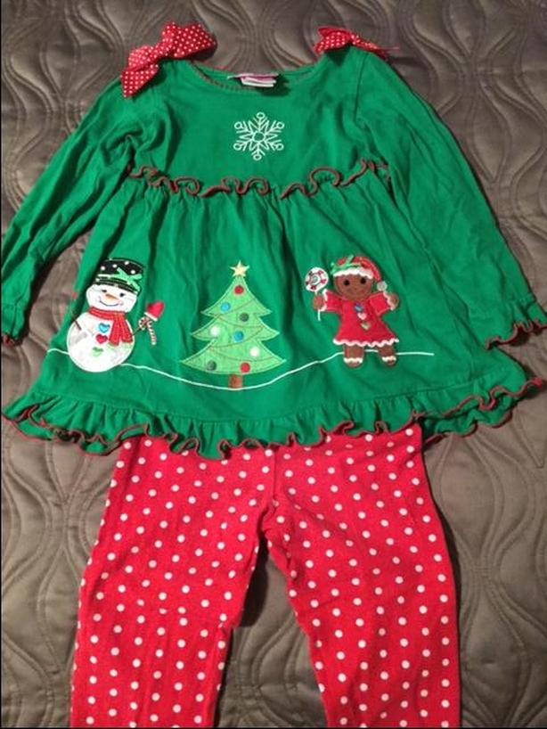 3T Girls Christmas outfit