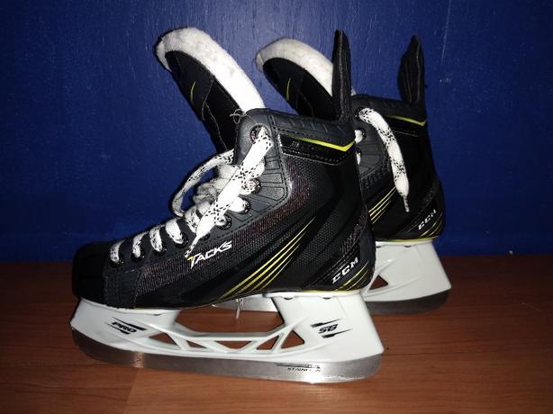 hockey skates and gloves