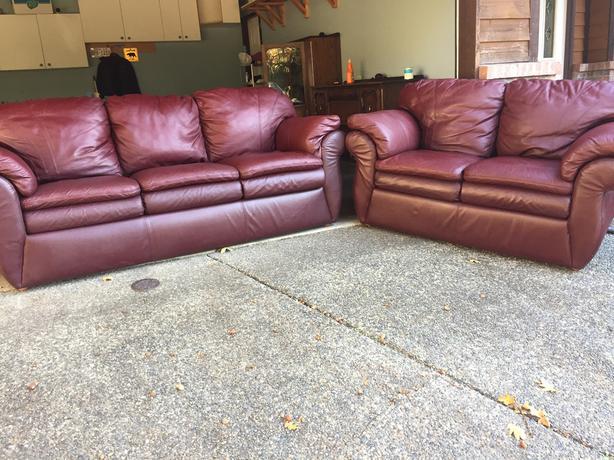  Log In needed $600 · Burgundy lazy boy leather sofa set