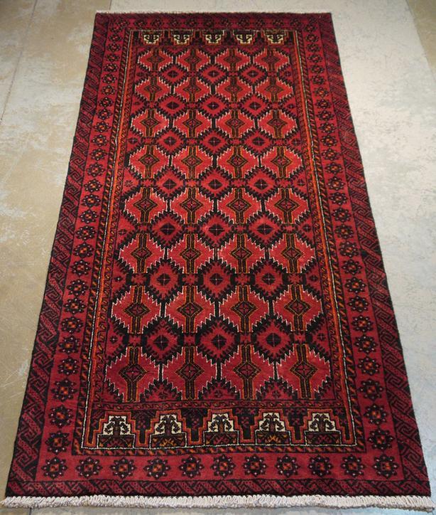 "Persian Balutch Rug Carpet 6'2"" x 3'0"""