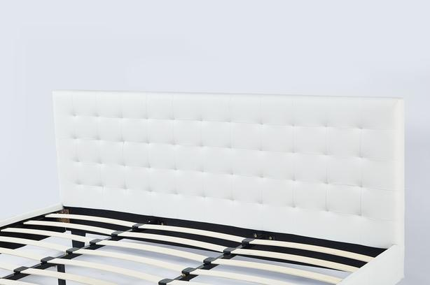 Brand NEW #301 King size White Faux Leather Bed Frame Richmond ...