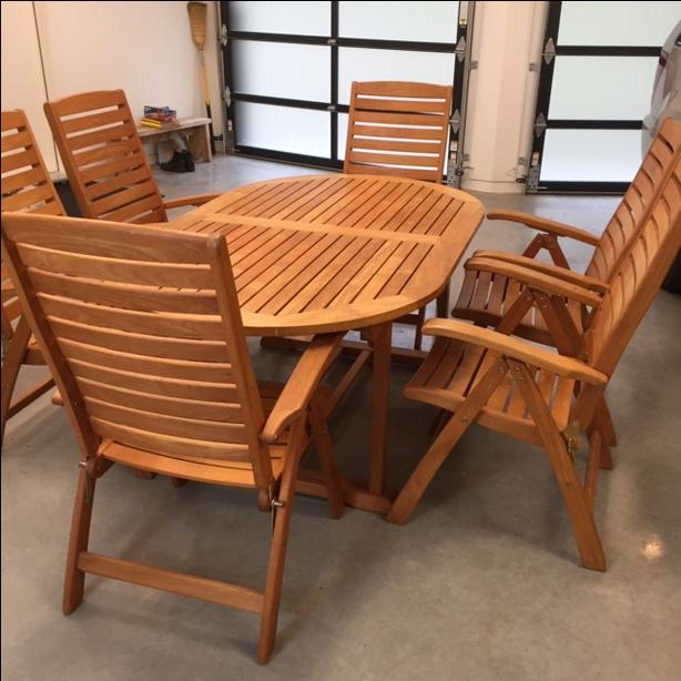 Solid Teak Table Amp Chairs North Saanich Sidney Victoria